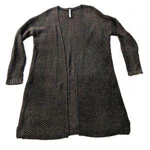 Gray Lightweight Long Sweater
